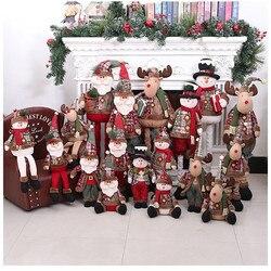 60cm boneca de natal brinquedos de pelúcia ano novo natal papai noel boneco de neve cervos em forma de brinquedo boneca pendurar decorações presente de natal