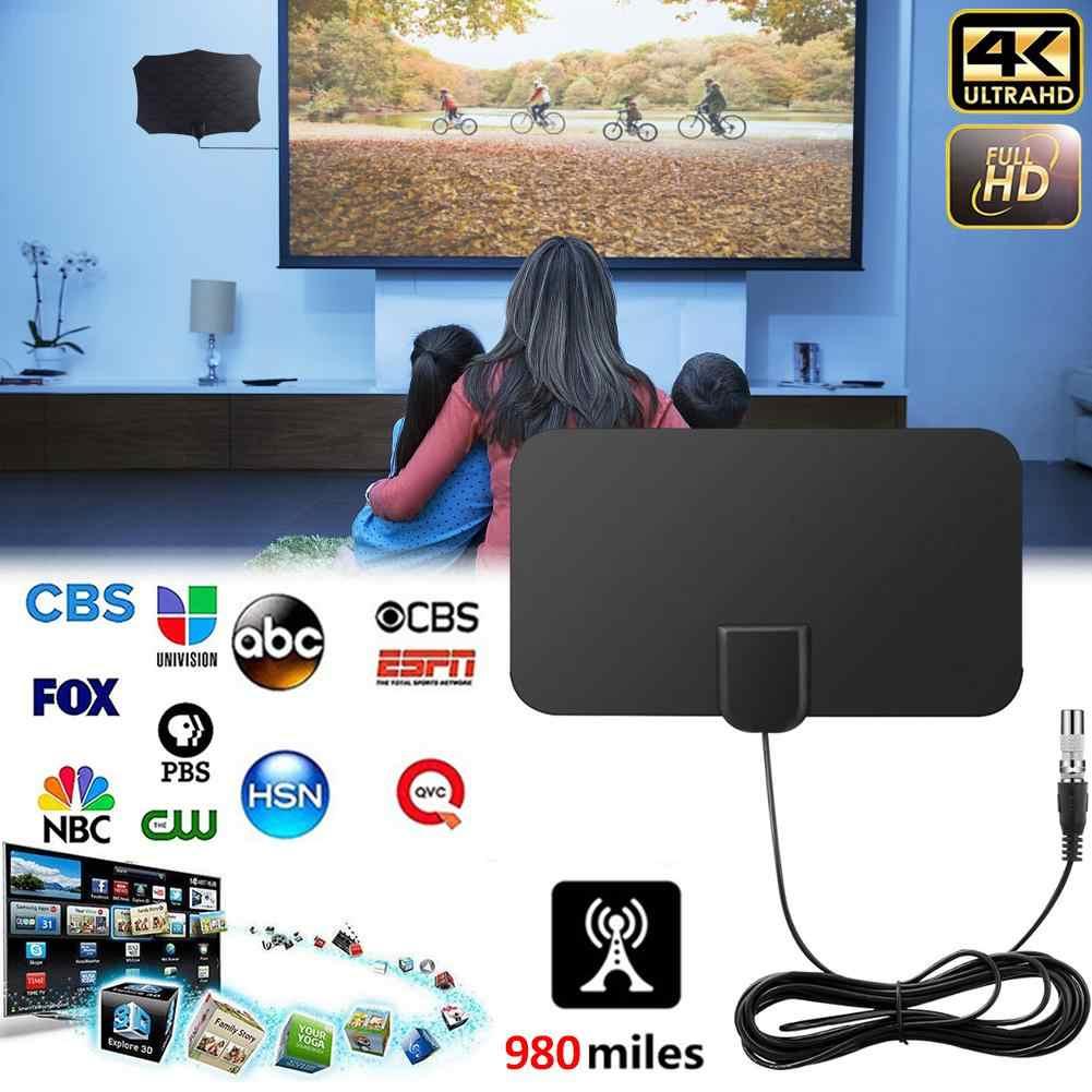 980 millas HD TV antenas interior Mini Digital antena Compatible con 720p 1080i 1080 p/ATSC