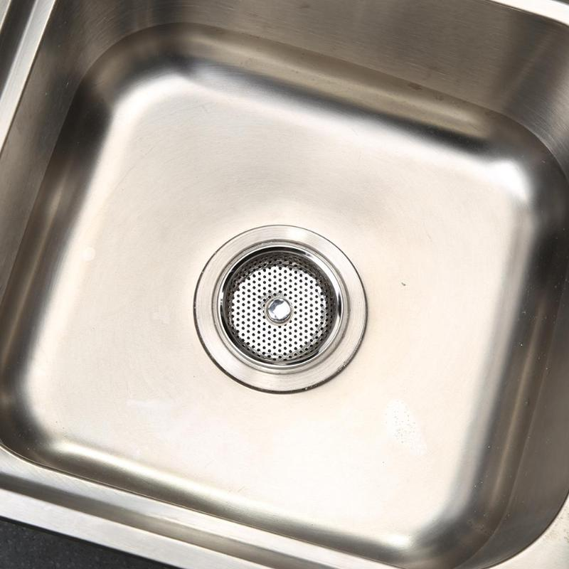Stainless Steel Mesh Kitchen Sink Plug Filter Cover Bathroom Basin Drainer Drain Stopper Filter Kitchen And Dining Bar Accessory Leather Bag