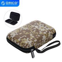ORICO 2 5 cal torba ochronna dla banku mocy dysk twardy dysk twardy SSD jazdy samochodem przenośne etui obudowa Camo szary niebieski czarny tanie tanio CN (pochodzenie) Camo Gray Blue Black Small 14*9*3cm 15*10*4cm Without Interlayer With Interlayer ORICO 2 5 inch Hard Drive Storage Bag