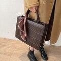 Высококачественная вместительная сумка-тоут с каменным узором, новинка 2020, осень и зима, модная женская дизайнерская сумка-мессенджер