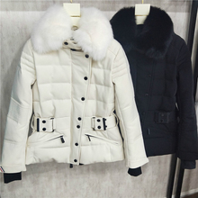 high quality new style down coats genuine fox fur outdoor sk