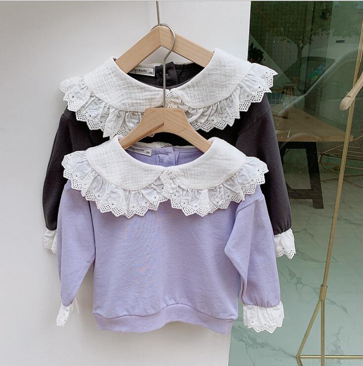 2019 new girls t-shirt autumn full sleeve cotton soft fashion girls sweatshirt 3-8t