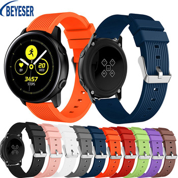 20mm Silicone Original sport watch band For Galaxy watch active smart watch strap For Samsung Galaxy watch Replacement bracelet 20mm watch strap for samsung galaxy watch active sports silicone replacement band for samsung galaxy watch 42mm bracelet belt