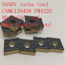 SANDV high quality lathe tool CNMG120408 PM4225 carbide tool, external turning R0.8 CNC semi-finishing