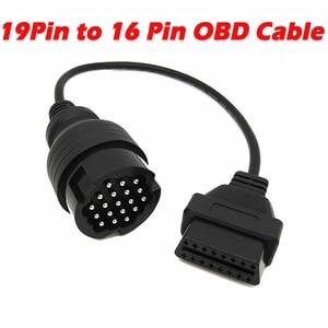 Image 1 - Câble dextension OBDII mâle 19 broches pour Porsche, câble OBD1 à Obd2 16 broches, adaptateur femelle, Interface de Diagnostic, dernier modèle