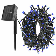 22m 200 LED Solar Powered Lamp String Fairy Lights Outdoor Solar Lights for Garden Decoration Waterproof Party Christmas Garland 22m 200 led solar strip light outdoor lighting garland christmas trees led string fairy lights waterproof for wedding garden new