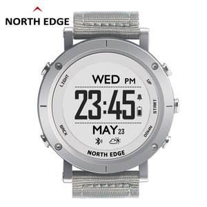 Image 1 - NORTHEDGE digital watches Men sports watch clock GPS Weather Altitude Barometer Compass Heart Rate Waterproof Dive hiking hours