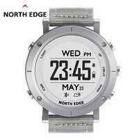 NORTHEDGE digitale uhren Männer sport uhr uhr GPS Wetter Höhe Barometer Thermometer Kompass Herz Rate Dive wandern stunden