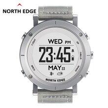 NORTHEDGE digitale uhren Männer sport uhr uhr GPS Wetter Höhe Barometer Kompass Herz Rate Wasserdichte Dive wandern stunden