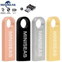Miniseas Waterproof Metal USB Flash Drive 32GB 64GB pendrive 16GB Pen 8GB 4GB cle  U Disk Memory Stick