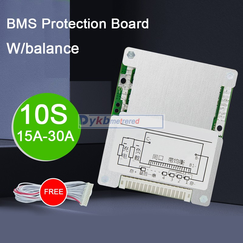 DYKB 10S 36V 30A 25A 20A 15A Li-ion lithium battery protection board BMS PCM W/ balance High Power 18650 Liion 7S 4S 3S 12V 24V image