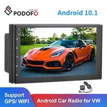 "Podofo 2 din 안 드 로이드 7 ""2.5d 자동차 라디오 스테레오 GPS Navi WiFi USB 범용 비디오 플레이어 폭스 바겐 닛산 현대 기아 도요타"