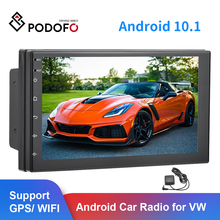 "Podofo 2 din Android 7"" 2.5D Car Radio Stereo GPS Navi WiFi USB Universal Video Player For Volkswagen Nissan Hyundai Kia toyota"