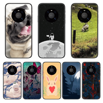 Shockproof Fashion Phone Case For Huawei mate 30 10 20 40 Lite Smart Z Pro Black Etui 3D Coque Painting Hoesjes case image