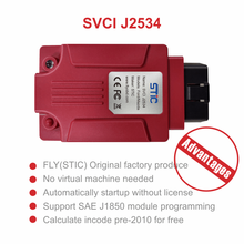SVCI J2534 FVDI J2534 IDS OBD2 Diagnostic Tool Support Online Programming and Diagnosis Cars Replace VCM2 Scanner