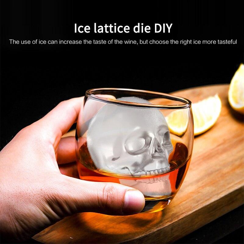 1 шт. 3D с трехмерной аппликацией в виде одно отверстие большой форма для льда «Череп» Лидер продаж форма для шоколада сделай сам инструмент в...