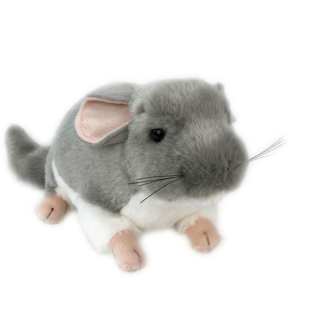 Realistic Chinchilla Mouse Animal Plush Stuffed Doll Kids Toy Home Desktop Decor Stuffed Plush Animals Gift For children