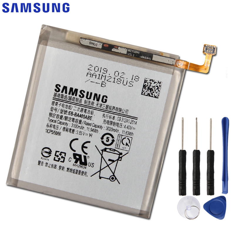 Original Replacement Samsung Battery For Samsung GALAXY A40 A405F EB-BA405ABE EB-BA405ABU Genuine Phone Battery 3100mAh