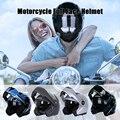 Взрослый мотоцикл большой размер безопасный Регулируемый шлем Велоспорт Мотоцикл цельный литой шлем с солнцезащитным козырьком двойные л...