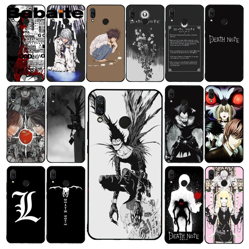 Babaite <font><b>Anime</b></font> Manga Death Note Ryuk Phone <font><b>Case</b></font> for <font><b>Xiaomi</b></font> Redmi8 4X 6A S2 Go Redmi 5 5Plus Note4 5 7 Note8Pro image