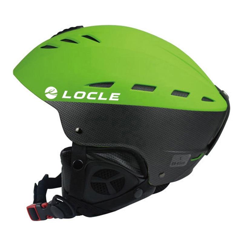LOCLE Professional Skiing Helmet Adult Women Men Ski Helmet Man Skating Skiing Skateboard Helmet Snow Sports Helmets
