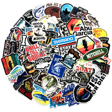 50PCS Outdoor Fishing Stickers for Suitcase Stationery Skate Cartoon PatchMotif DIY scrapbooking Decorative sticker scrapbook