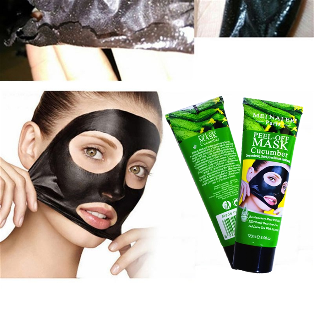 Nature Cucumber Nourish Face Pack Peel Off Bamboo Charcoal Purifying Blackhead Remover Mask Deep Cleansing Freckle Scars Repair