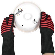 Анти-обжигающие высокие термостойкие перчатки изоляция печи рукавицы для барбекю