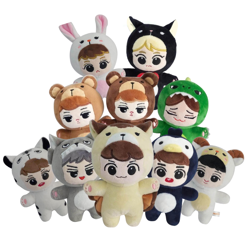Korea Kawaii Cartoon Plush Doll Soft Cotton Stuffed Toys Handmade Collection Cute Soft Cotton Fans Gift Dolls For Baby Birthday