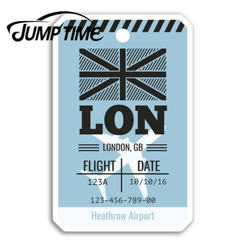 Jump Time Heathrow Airport Vinyl Stickers London England Sticker Luggage Decal Decor Window Bumper Waterproof image