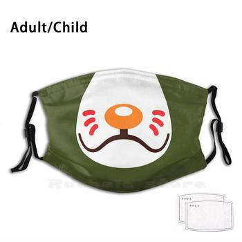 Marcel Face Mask Funny Print Reusable Pm2.3141 Filter Face Mask Animal Crossing Animal Crossing Nintendo image
