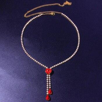 Crystal Heart Tennis Choker Necklace