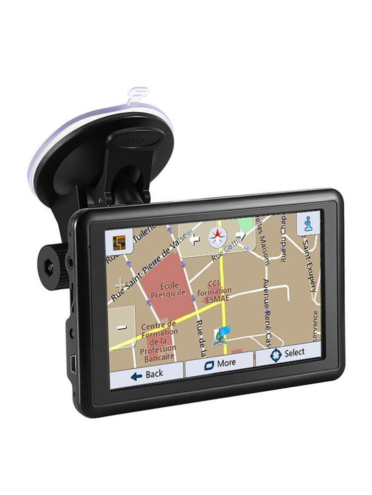 Car-Charger GPS Car-Navigation-1200mah 5inch Gps-Device Convenient-Fm-Transmitter-Navigator title=