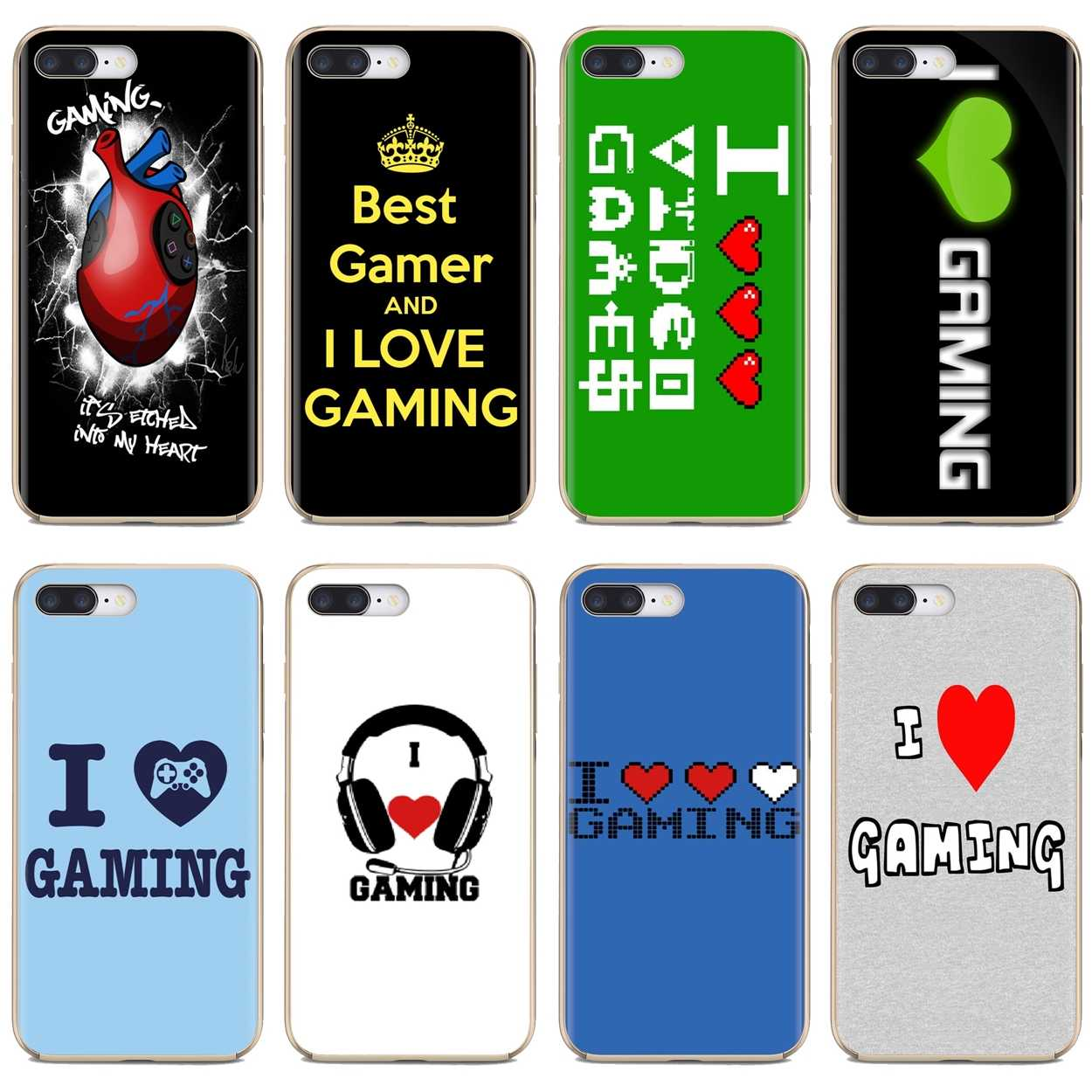 For Xiaomi Mi A1 A2 A3 5X 6X 8 9 9t Lite SE Pro Mi Max Mix 1 2 3 2S I HEART GAMING Pattern Print Silicone Cover