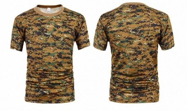 Herren Combat T-Shirts Kurzarm Shortsleve Militär Kampf Freizeitshirt Camouflage