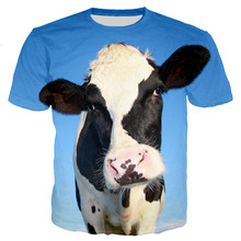 Cow Funny Men/women New Fashion Cool 3D Printed T-shirts Casual Style Tshirt Streetwear Tops Dropshipping