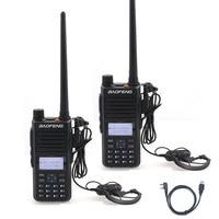 2PCS Baofeng DM 1801 DM860 Digital Walkie Talkie DMR Tier1 Tier2 Tier II Dual time slot Digital Radio with Programming Cable