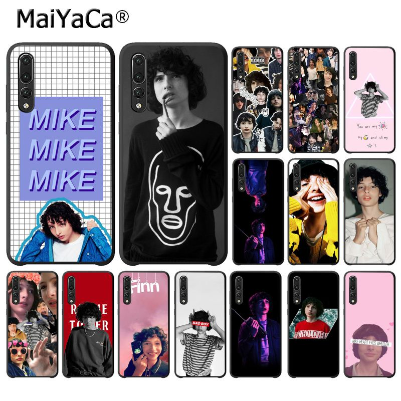 MaiYaCa Finn Wolfhard <font><b>Stranger</b></font> <font><b>Things</b></font> Black <font><b>Phone</b></font> <font><b>Case</b></font> for <font><b>Huawei</b></font> P10 <font><b>P20</b></font> <font><b>LIte</b></font> Mate20 Mate10 <font><b>Lite</b></font> P20Pro Honor10 9Lite Honor8X image