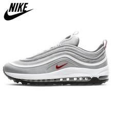 Zapatillas de correr Air 97 para hombre y mujer, transpirables, triples, color blanco, novedad, 2020
