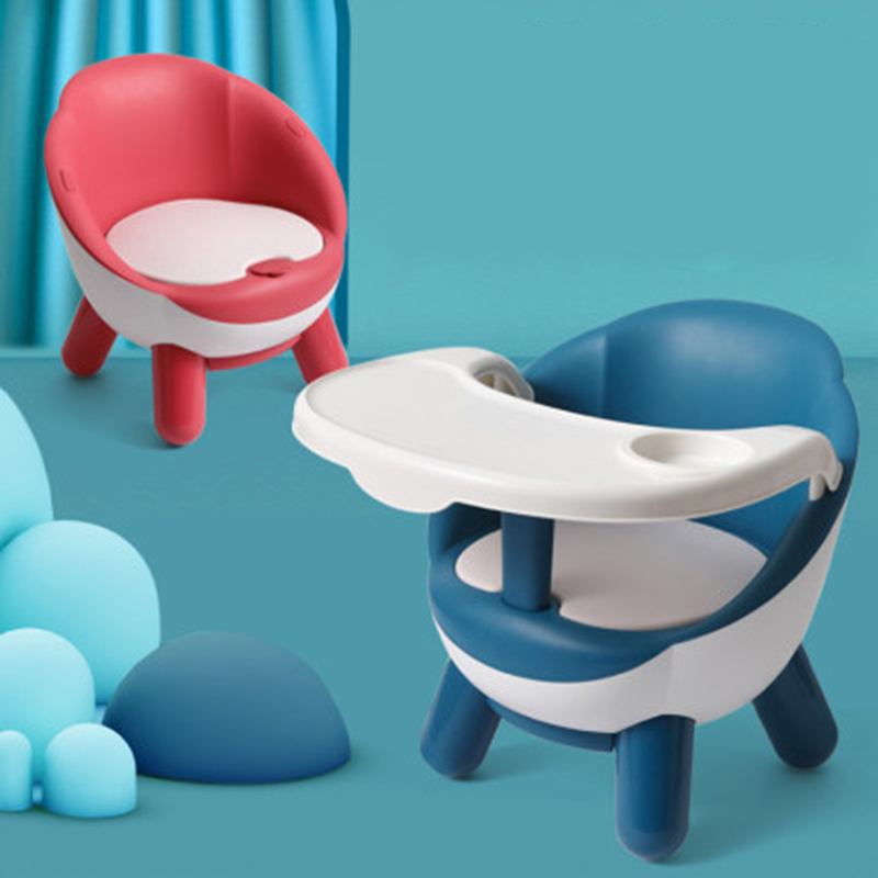 Children's Dining Chair Baby Eating Table Multifunctional Stool Small Plastic Backrest Seat Fun Voice Baby Eating Training Chair