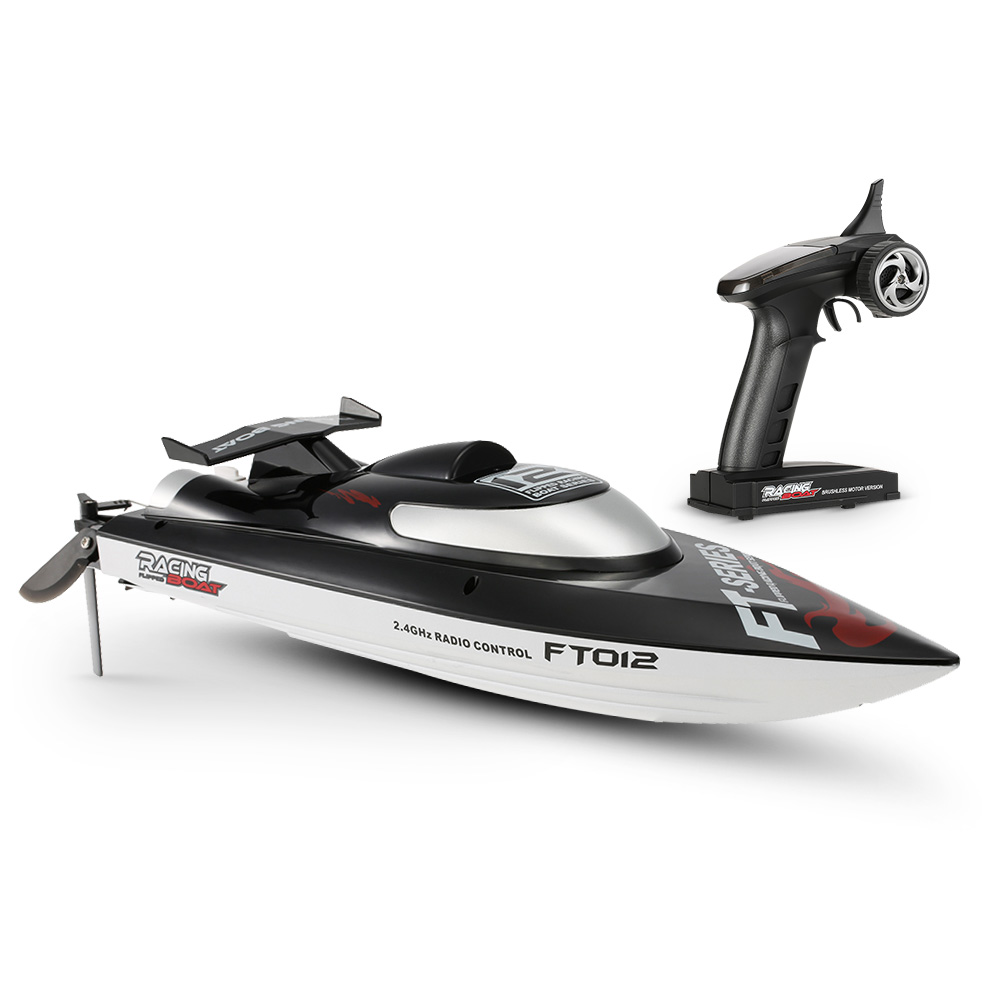 Original Feilun FT012 2.4G Brushless 45km/h High Speed RC Racing Boat with Water Cooling Self righting System