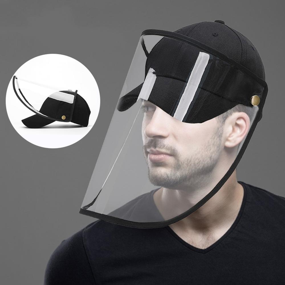 Dustproof  Windproof  Mesh Design Baseball Cap Face Detachable Hat Shield Screen Fashion Anti-Dust Peaked Hat