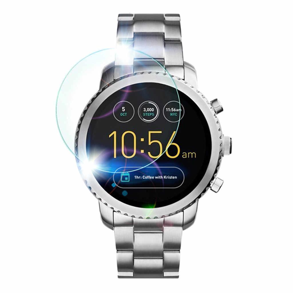 1 PC/3 PCS Limpar Filme Protetor de Tela De Vidro Temperado para Fósseis Gen3 Q Relógio Inteligente 2019 Nova Chegada moda