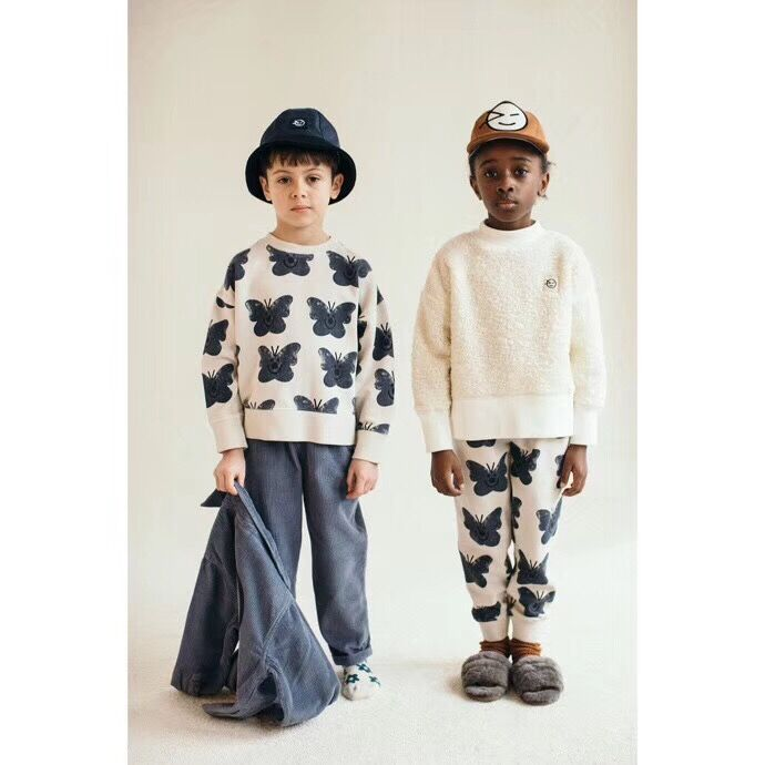Kids Clothes Set 2021 Wynken New Autumn Winter Boys Girls Dresses T-shirts Flower Print Sweatshirts Baby Pants Fashion Outwear 4