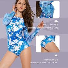 2019 new Women Long Sleeve Rashguard Swimwear Swimwear Bathing Suit Print Surfing Top Diving Shirt Biking Rash Guard(China)