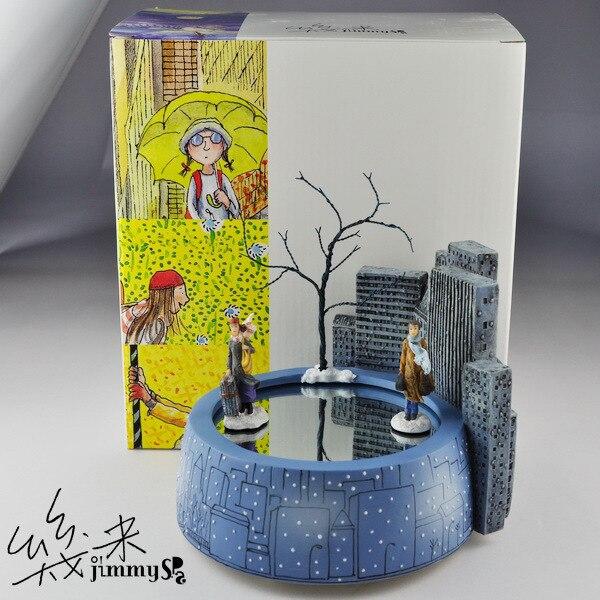 Бесплатная доставка Jimi Магнитная романтичная музыкальная шкатулка вращающаяся музыкальная шкатулка для влюбленных подарок на день рожден... - 3