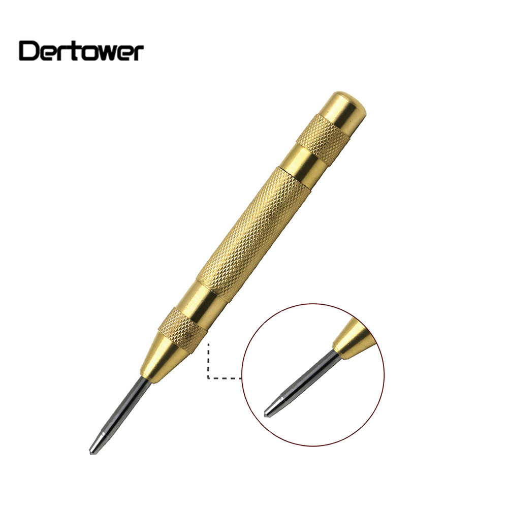 1pcs HSS Automatic Center Punch Spring Loaded Marking Drilling Tool For Steel Board Walls Starting Holes Tool Chisel Steel