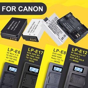 Image 1 - LP E6 LPE6 LP E6 LP E8 LPE8 LP E8 LP E12 LPE12 LP E12 LP E17 LPE17 LP E17 pantalla Digital LED cargador dual para cámara Canon