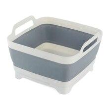 Складная подставка на раковину с дренажным дуршлагом для фруктов и овощей для мытья посуды